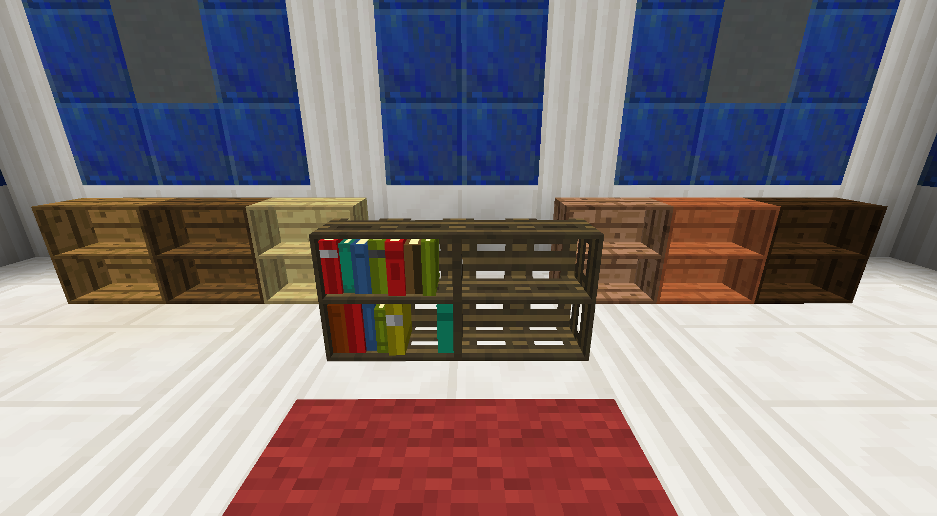 Amazing photo of Bookcase BiblioCraft with #1D346D color and 1920x1058 pixels