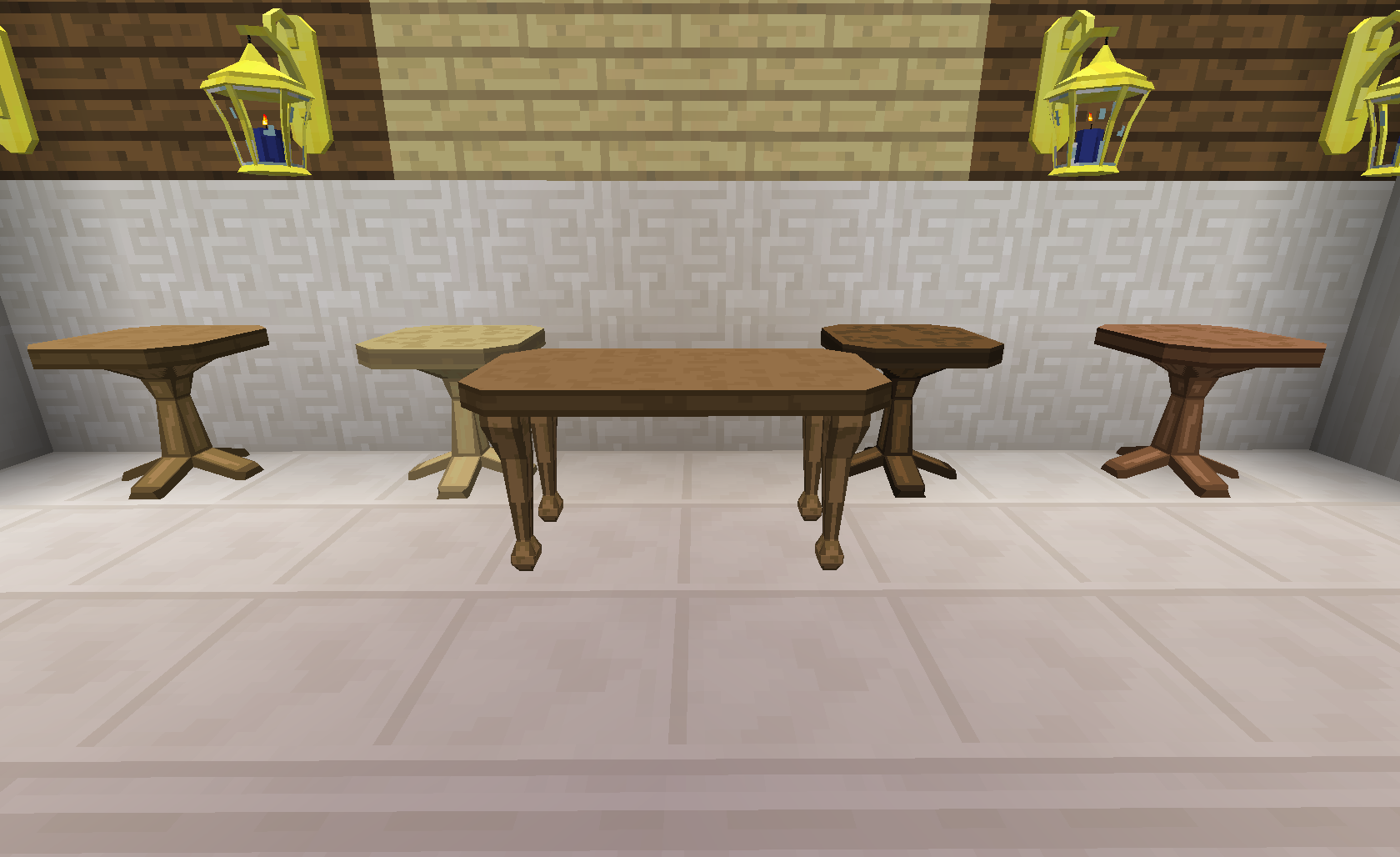Tables bibliocraft for Minecraft coffee table